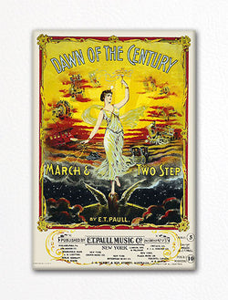 Dawn of the Century E. T. Paull Sheet Music Cover Fridge Magnet