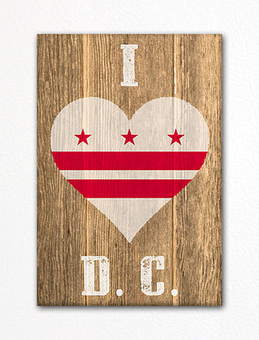 I Love Washington D. C. Flag Heart Fridge Magnet