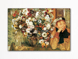Woman with Chrysanthemums Edgar Degas Fridge Magnet