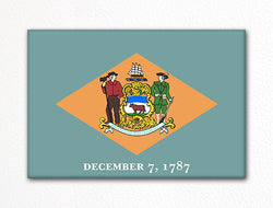 Delaware State Flag Fridge Magnet