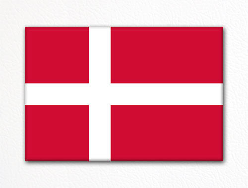Flag of Denmark Danish Flag Fridge Magnet