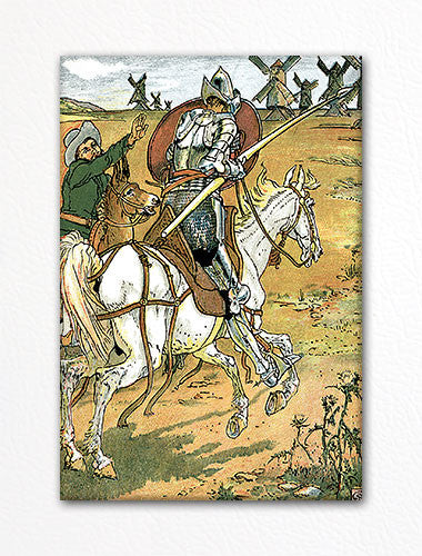 Don Quixote 1880 Illustration Fridge Magnet