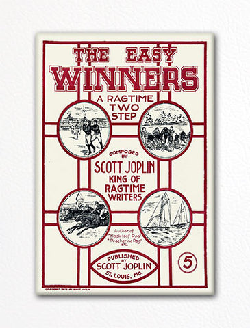 The Easy Winners Sheet Music Cover Fridge Magnet