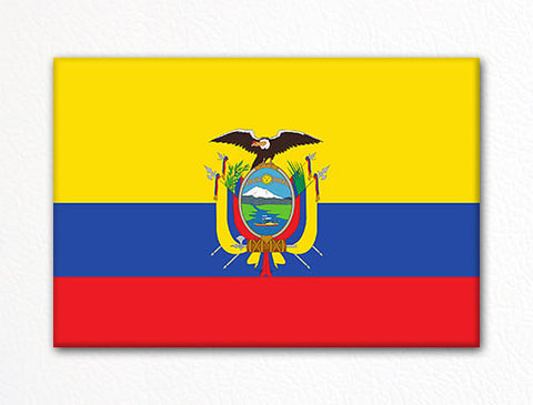 Flag of Ecuador Ecuadorian Flag Fridge Magnet