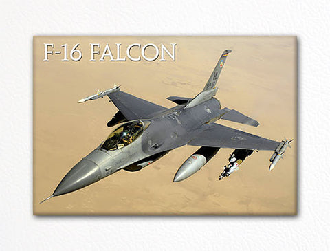 F-16 Fighting Falcon USAF Aircraft Fridge Magnet