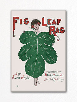Fig Leaf Rag Sheet Music Cover Fridge Magnet