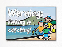 Fishing is Catching Fridge Magnet