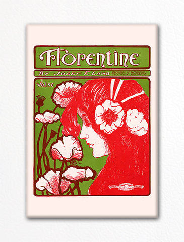Florentine Sheet Music Cover Fridge Magnet