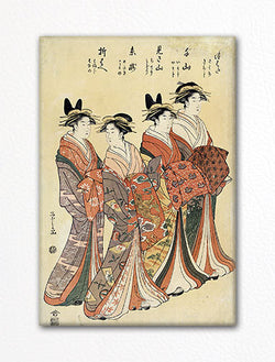 Four Geisha Fridge Magnet