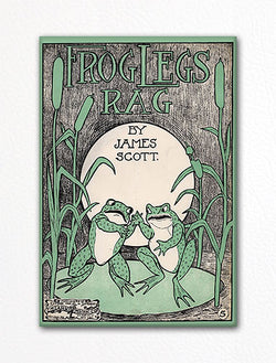 Frog Legs Rag Sheet Music Cover Fridge Magnet