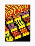 Fruit Store Poster Fridge Magnet