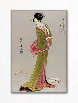 Geisha with Shamisen Hosoda Eishi Fridge Magnet