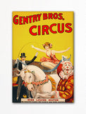 Gentry Bros. Circus Advertising Poster Fridge Magnet