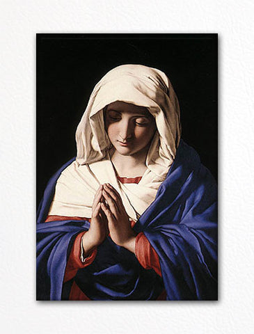 Giovanni Battista Salvi Virgin Mary Fridge Magnet