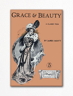 Grace and Beauty Sheet Music Cover Fridge Magnet