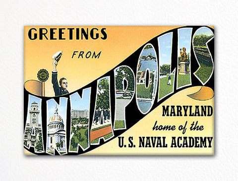 Greetings from Annapolis Maryland Fridge Magnet