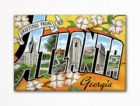 Greetings from Atlanta Georgia Fridge Magnet