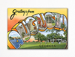 Greetings from Augusta Georgia Fridge Magnet