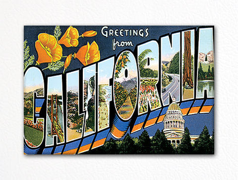 Greetings from California Fridge Magnet