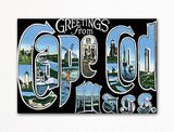 Greetings from Cape Cod Massachusetts Fridge Magnet
