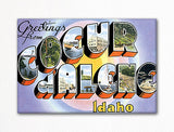 Greetings from Coeur d'Alene Idaho Fridge Magnet