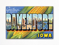 Greetings from Davenport Iowa Fridge Magnet