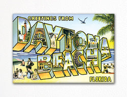 Greetings from Daytona Beach Florida Fridge Magnet