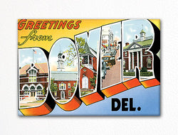 Greetings from Dover Delaware Fridge Magnet