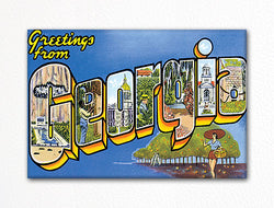 Greetings from Georgia Fridge Magnet