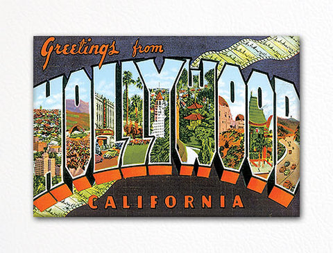 Greetings from Hollywood California Fridge Magnet