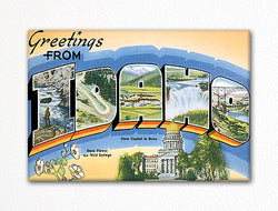 Greetings from Idaho Fridge Magnet