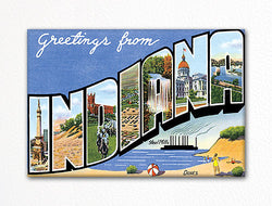 Greetings from Indiana Fridge Magnet