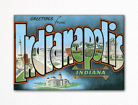 Greetings from Indianapolis Indiana Fridge Magnet