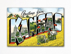 Greetings from Kansas Fridge Magnet