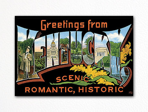Greetings from Kentucky Fridge Magnet