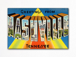 Greetings from Nashville Tennessee Fridge Magnet