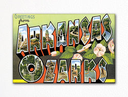 Greetings from Arkansas Ozarks Fridge Magnet