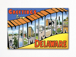 Greetings from Wilmington Delaware Fridge Magnet