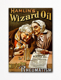 Hamlin's Wizard Oil Vintage Advertisement Fridge Magnet