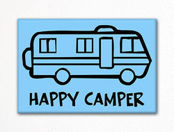 Happy Camper Fridge Magnet