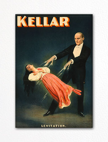 Harry Kellar Levitation Poster Fridge Magnet