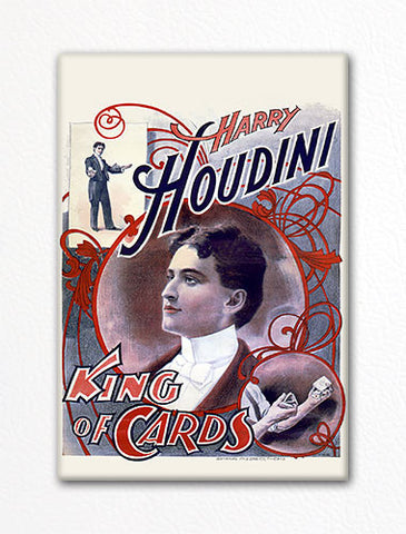 Houdini King of Cards Advertising Poster Artwork Fridge Magnet