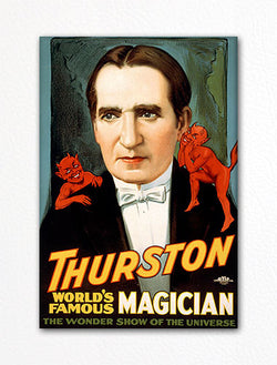 Howard Thurston World's Famous Magician Poster Artwork Fridge Magnet