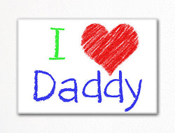 I Love Daddy Fridge Magnet