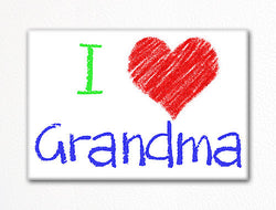 I Love Grandma Fridge Magnet