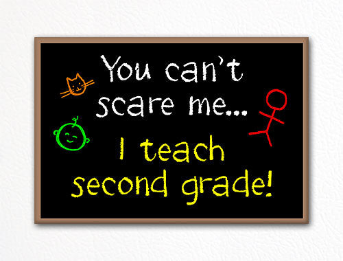 You Can't Scare Me I Teach Second Grade Fridge Magnet