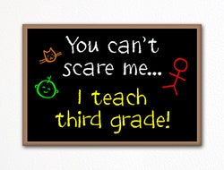You Can't Scare Me I Teach Third Grade Fridge Magnet