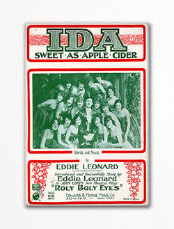 Ida Sweet as Apple Cider Sheet Music Cover Fridge Magnet