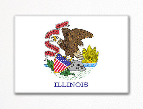 Illinois State Flag Fridge Magnet