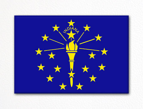 Indiana State Flag Fridge Magnet